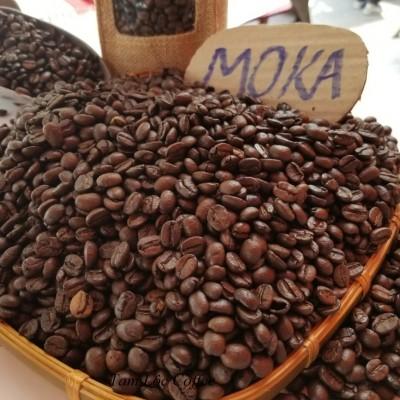 Cà phê hạt rang mộc Moka Tam Lộc